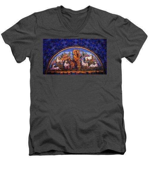 The Good Shepherd Men's V-Neck T-Shirt by Nigel Fletcher-Jones