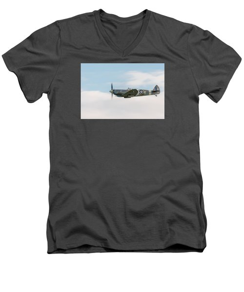 The Grace Spitfire Men's V-Neck T-Shirt by Gary Eason