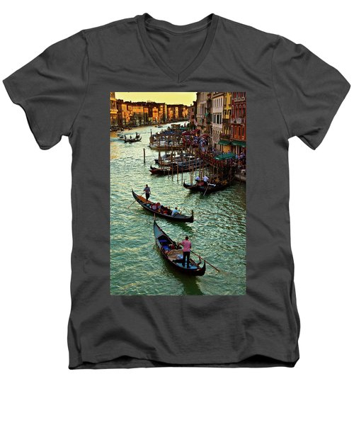 The Grand Canal Venice Men's V-Neck T-Shirt