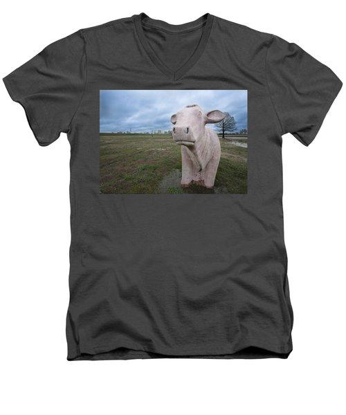 The Granite Cow Men's V-Neck T-Shirt