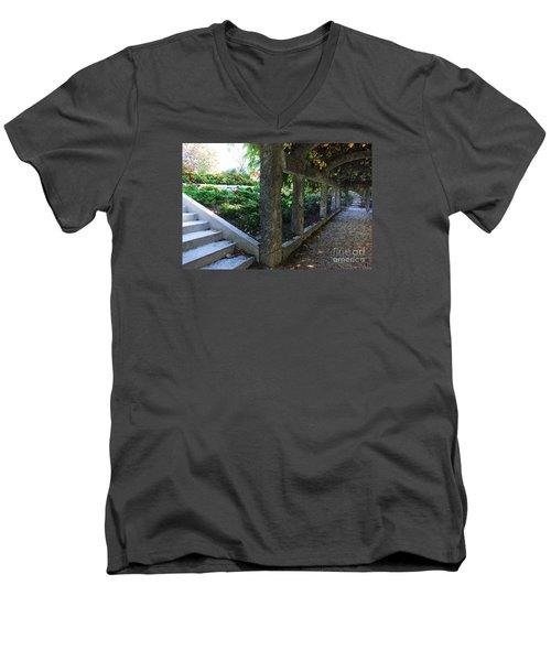 The Grape Arbor Path Men's V-Neck T-Shirt