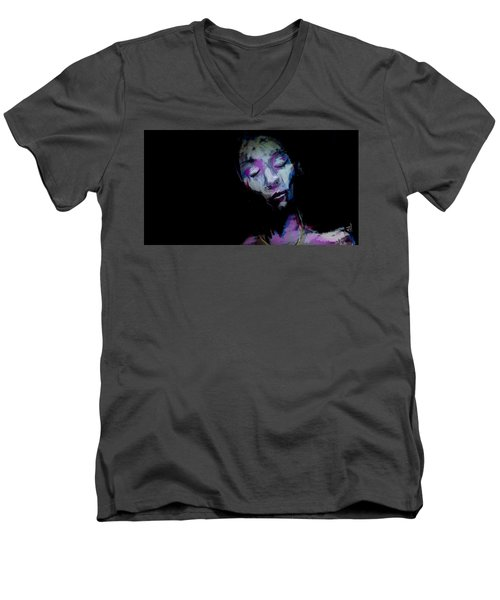 The Great Quiet Men's V-Neck T-Shirt by Jim Vance