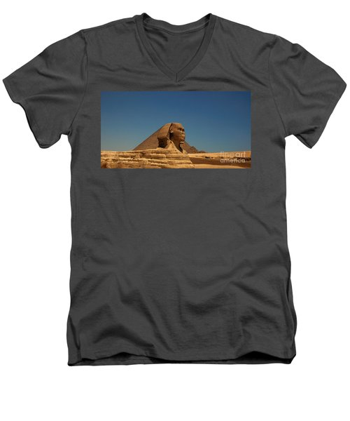 The Great Sphinx Of Giza 2 Men's V-Neck T-Shirt