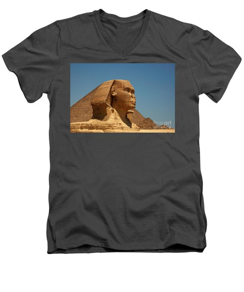 The Great Sphinx Of Giza Men's V-Neck T-Shirt