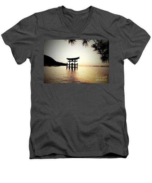 The Great Torii  Men's V-Neck T-Shirt