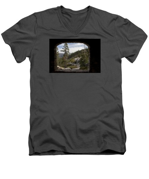 The Great View Of Yosemite Men's V-Neck T-Shirt by Ivete Basso Photography