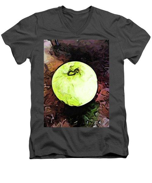 The Green Apple In The Bright Light Men's V-Neck T-Shirt