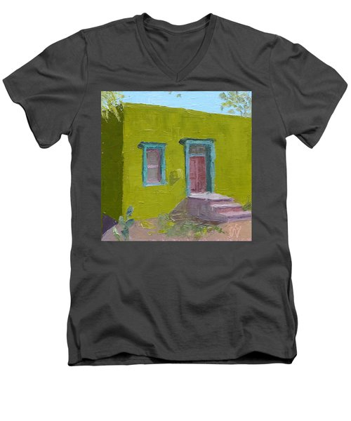 The Green House Men's V-Neck T-Shirt by Susan Woodward