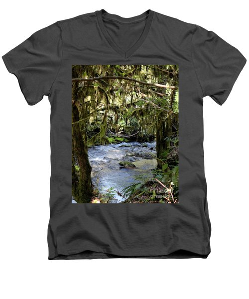 The Green Seen Men's V-Neck T-Shirt by Marie Neder