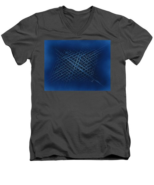 The Grid Men's V-Neck T-Shirt
