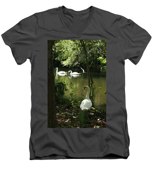 The Guard Swan Men's V-Neck T-Shirt