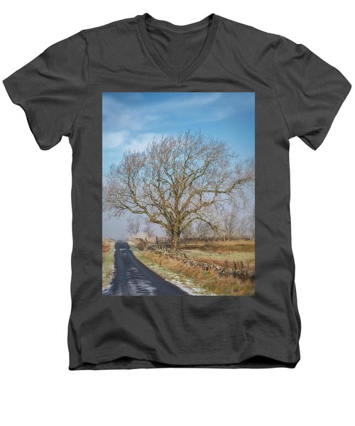 Men's V-Neck T-Shirt featuring the photograph The Guardian by Jeremy Lavender Photography