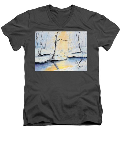 The Guardian Men's V-Neck T-Shirt by Meaghan Troup
