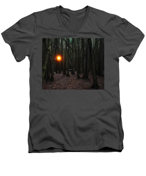 Men's V-Neck T-Shirt featuring the photograph The Guiding Light by Debbie Oppermann