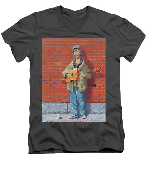The Guitarist Men's V-Neck T-Shirt