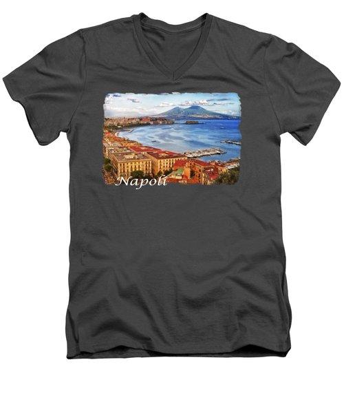 The Gulf Of Naples Men's V-Neck T-Shirt