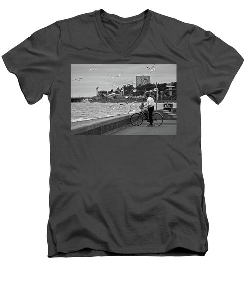 The Gull Man Men's V-Neck T-Shirt