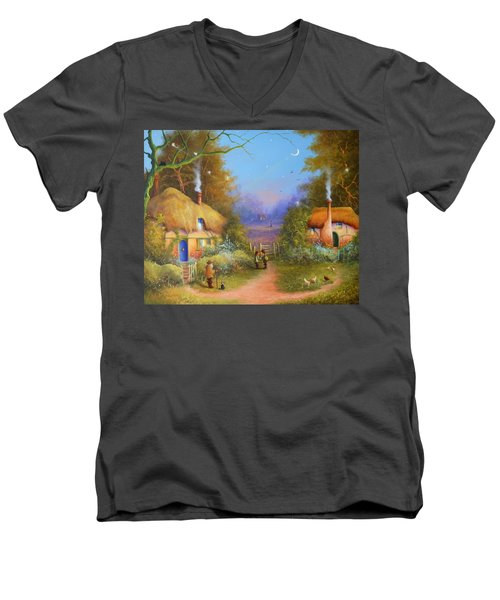 The Hamlet Of Gnarl Mid Summers Eve Men's V-Neck T-Shirt