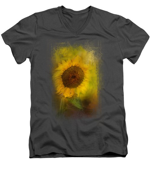 The Happiest Flower Men's V-Neck T-Shirt
