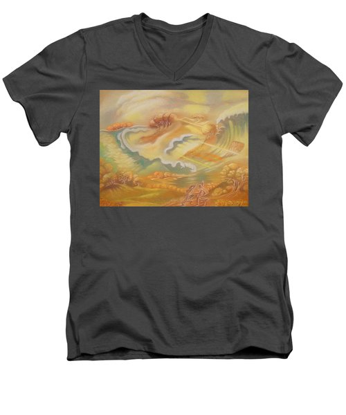 The Happy Tsunami Men's V-Neck T-Shirt