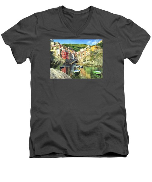The Harbor At Rio Maggiore Men's V-Neck T-Shirt