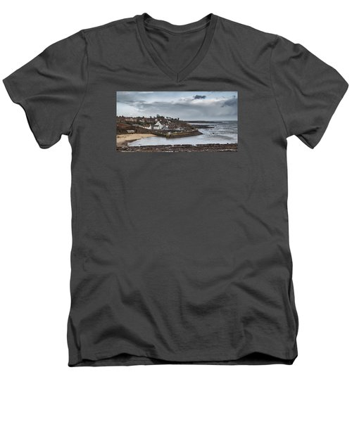The Harbour Of Crail Men's V-Neck T-Shirt by Jeremy Lavender Photography