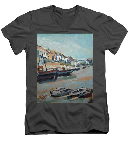 The Harbour Of Mevagissey Men's V-Neck T-Shirt