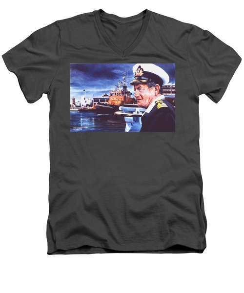 The Harbourmaster Men's V-Neck T-Shirt by Tim Johnson