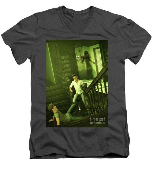 The Haunted Manor Men's V-Neck T-Shirt