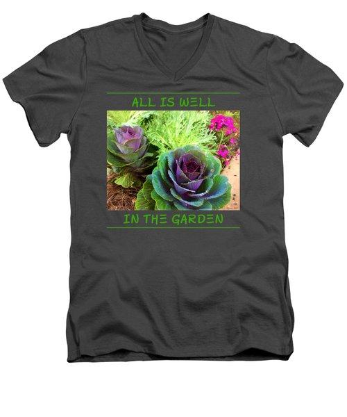The Healing Garden Men's V-Neck T-Shirt by Korrine Holt