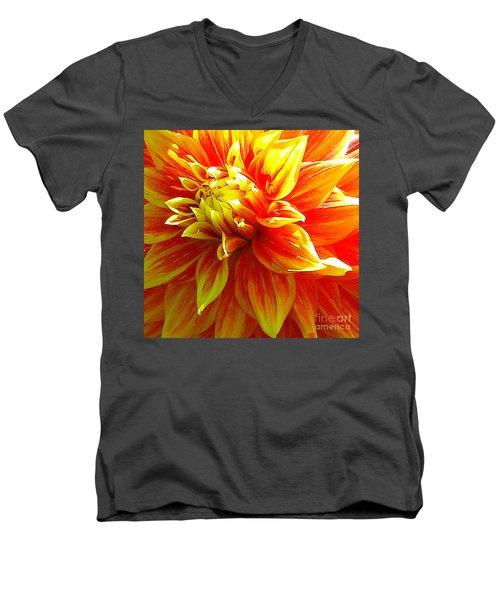 The Heart Of A Dahlia #2 Men's V-Neck T-Shirt