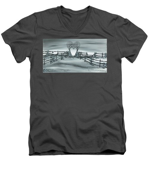 The Heart Of Everything Men's V-Neck T-Shirt by Kenneth Clarke