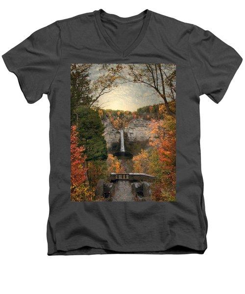 The Heart Of Taughannock Men's V-Neck T-Shirt