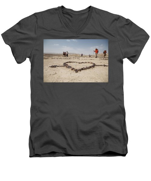 The Heart Of The Desert Men's V-Neck T-Shirt