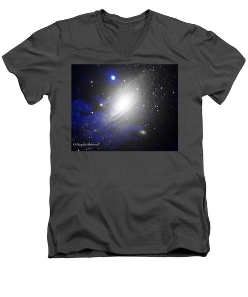 The Heavens Men's V-Neck T-Shirt by MaryLee Parker