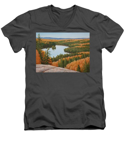 The Height Of Autumn Men's V-Neck T-Shirt