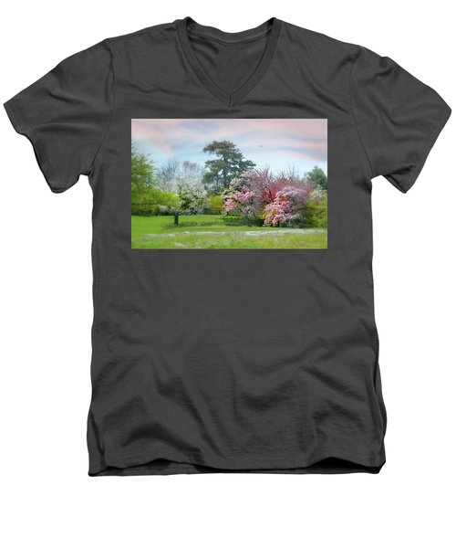 Men's V-Neck T-Shirt featuring the photograph The Hidden Garden by Diana Angstadt