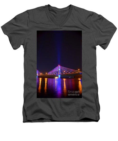 The Hidden Light Men's V-Neck T-Shirt by Justin Moore