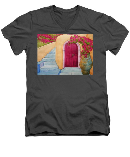 The Hideaway Men's V-Neck T-Shirt by Rand Swift
