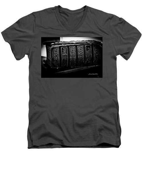 The Holy Bible Men's V-Neck T-Shirt by Joann Copeland-Paul