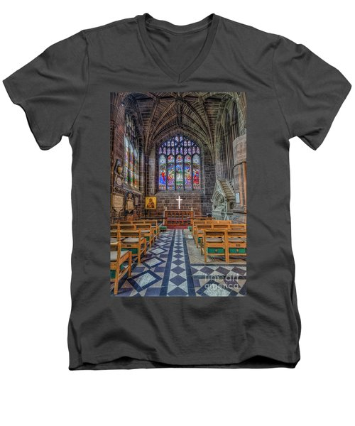 The Holy Cross Men's V-Neck T-Shirt by Ian Mitchell