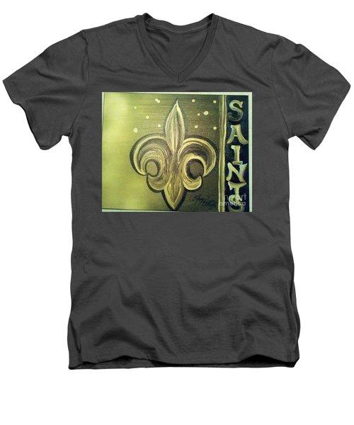 The Holy Saints Men's V-Neck T-Shirt by Talisa Hartley