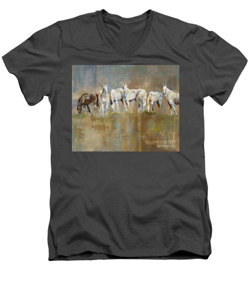 The Horizon Line Men's V-Neck T-Shirt