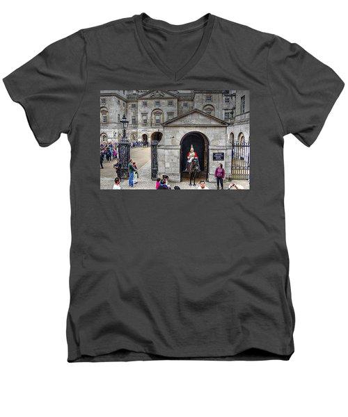 The Horse Guard At Whitehall Men's V-Neck T-Shirt