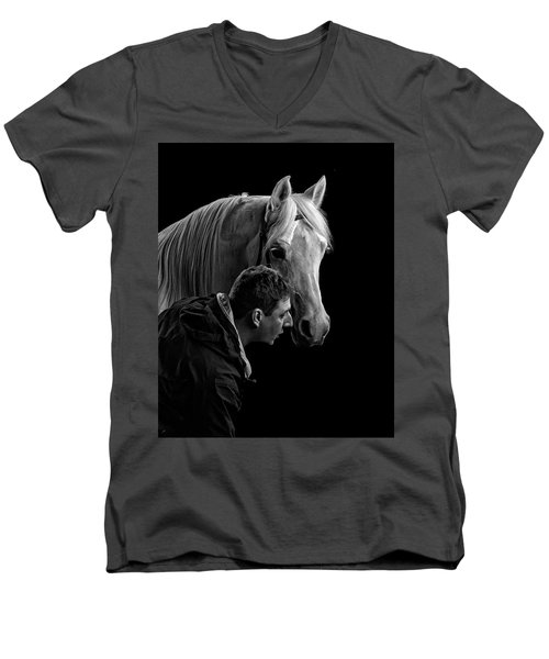 The Horse Whisperer Extraordinaire Men's V-Neck T-Shirt