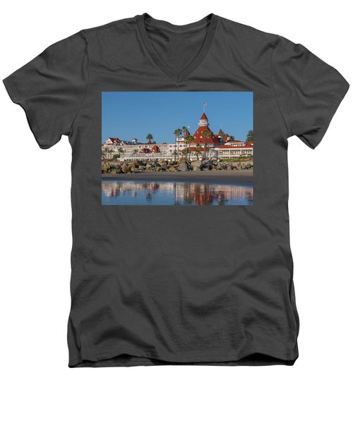 The Hotel Del Coronado Men's V-Neck T-Shirt
