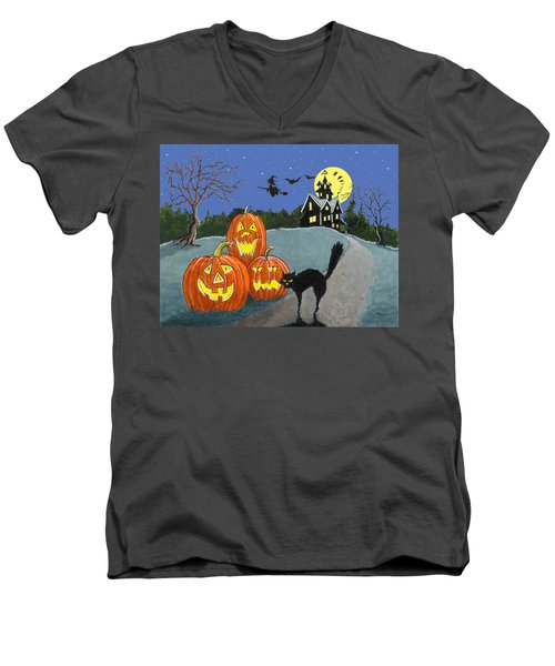 The House On Cemetery Hill Men's V-Neck T-Shirt