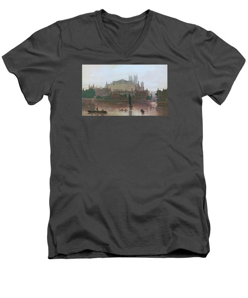 The Houses Of Parliament Men's V-Neck T-Shirt by George Fennel Robson