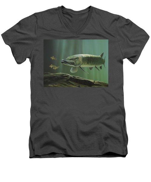 The Hunter - Musky Men's V-Neck T-Shirt