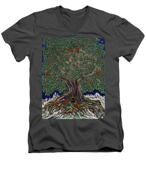The Hunter's Lair Men's V-Neck T-Shirt